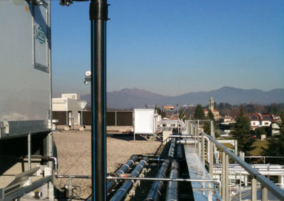 Tubazioni torre evaporativa